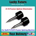 Herramienta de fibra Óptica Electrodo Para ILSINTECH Swift F1/F2/F3 Óptica Máquina de Empalme de Fusión Electrodos E-19