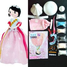 Slime Clay Set DIY Slime Supplies West Style Doll With Dress And Headwear Education Craft Slime Colorful Fluffy Clay DOLLRYGA(China)