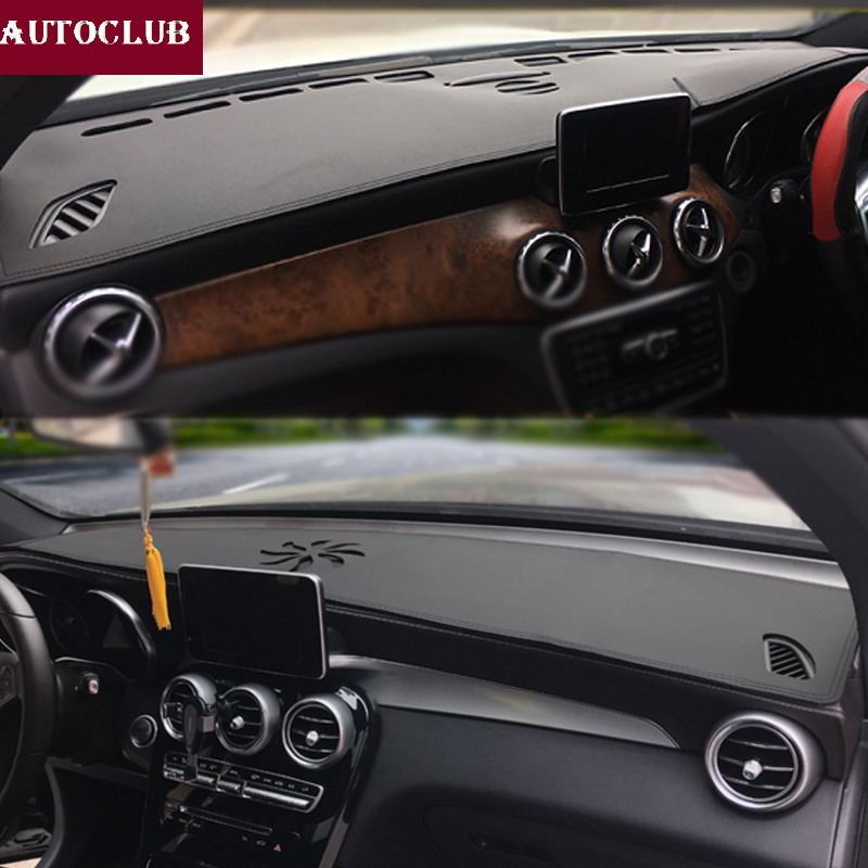 For Mercedes-Benz GLA CLA Class GLA180 GLA200 CLA250 220 Leather Dashmat Dashboard Cover Pad Dash Mat Sunshade carpet 2013-2019 Mitsubishi Pajero