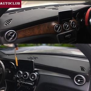 Image 1 - For Mercedes Benz GLA CLA Class GLA180 GLA200 CLA250 220 Leather Dashmat Dashboard Cover Pad Dash Mat Sunshade carpet 2013 2019