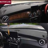 สำหรับMercedes-Benz GLA CLAชั้นGLA180 GLA200 CLA250 220หนังDashmatแผ่นฝาครอบแผงควบคุมจ้ารีบม่านบังแดดพรม2013-2019