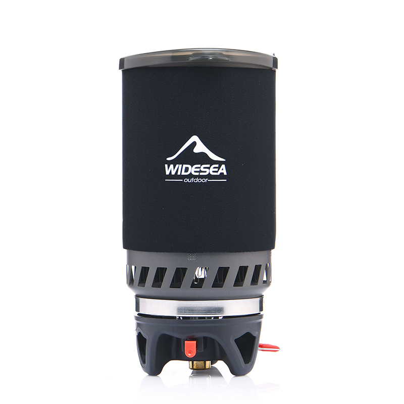Widesea quemador de Gas estufa de Camping al aire libre de utensilios de cocina 1400 ML Intercambiador de Calor olla cocina sistema turístico de cocina olla equipo - 2