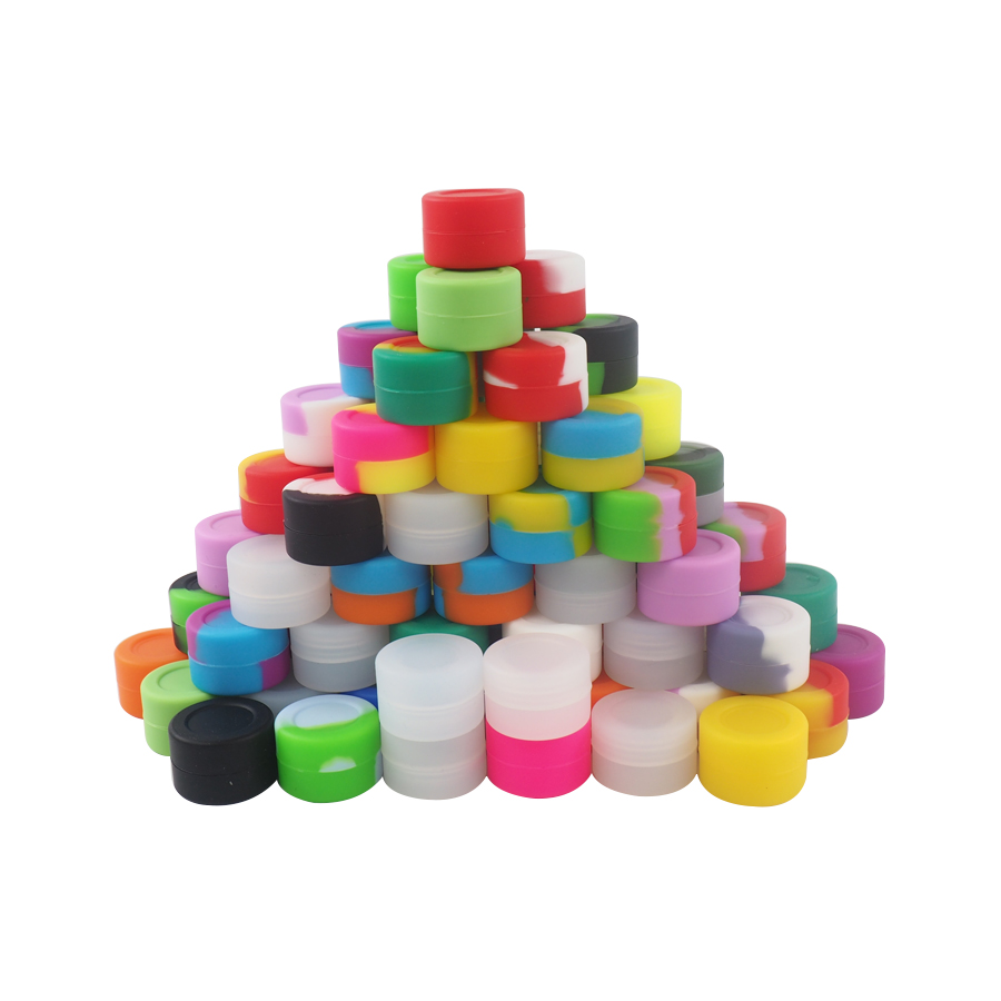 20pcs\lot 3ml Mini  Silicone Container Wax  Jars Dab Bottle Wax Container