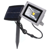 Waterproof 10W LED Solar Light Flood Garden Decoration LED Outdoor Light Landscape Spotlight Wall Lamp Bulb