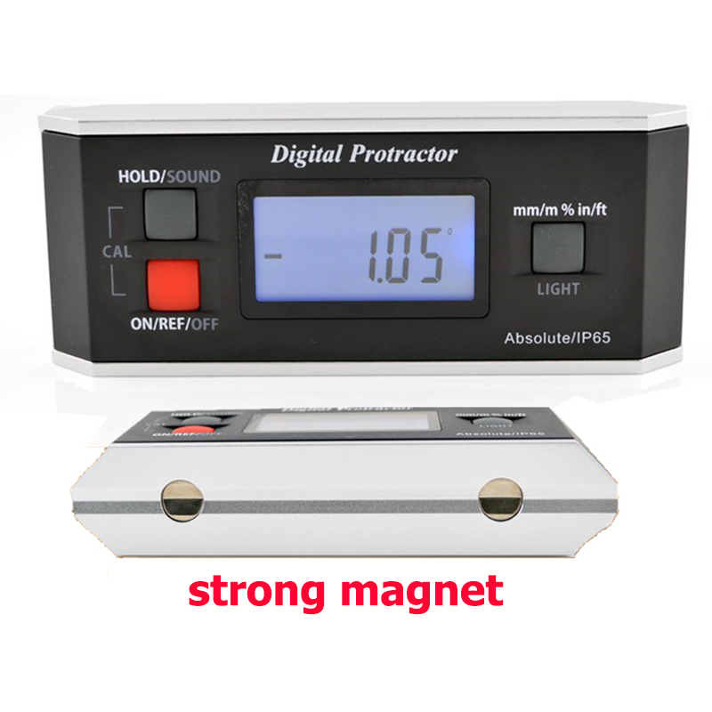 High quality IP65 Digital LCD Protractor Angle Finder Level Inclinometer Magnetic V Groove 0 360degree