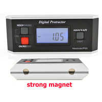 High quality IP65 Digital LCD Protractor Angle Finder Level Inclinometer Magnetic V-Groove 0~360degree