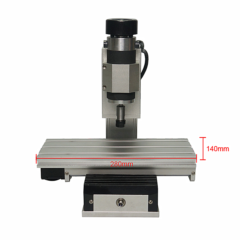 CNC 1010 Frame Vertical Type 3 Axis Column Type Mini Engraving Machine Wood Lathe Kit