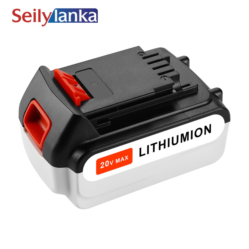 New Replacement 5000mAh 20V MAX Rechargeable Cordless Tool Battery for Black & Decker LB20 LBXR20 LB2X4020 LGC120