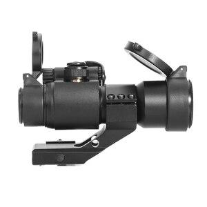Image 4 - LUGER holografik kırmızı nokta görüşü M2 avcılık optik tüfek kapsam 20mm ray dağı ile kolimatör Sight hava tabancası avcılık
