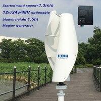 400w wind generator 12v 24v 48v maglev generator wind turbine with water proof controller 600watt ,2 blades 1.3m started