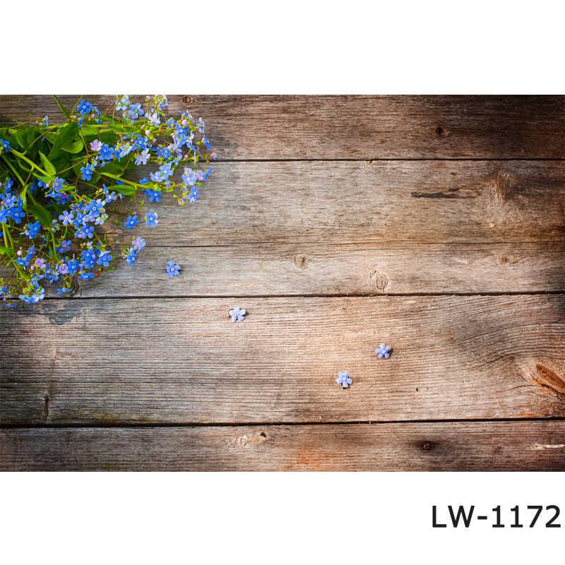 Planche de bois fleur pétale fleur Photocall gâteau photo stand Studio photographie fond brun floral planche de bois Photo toile de fond