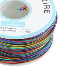 SZS Hot P/N B-30-1000 30AWG 8-Wire Colored Insulation Wrapping Cable