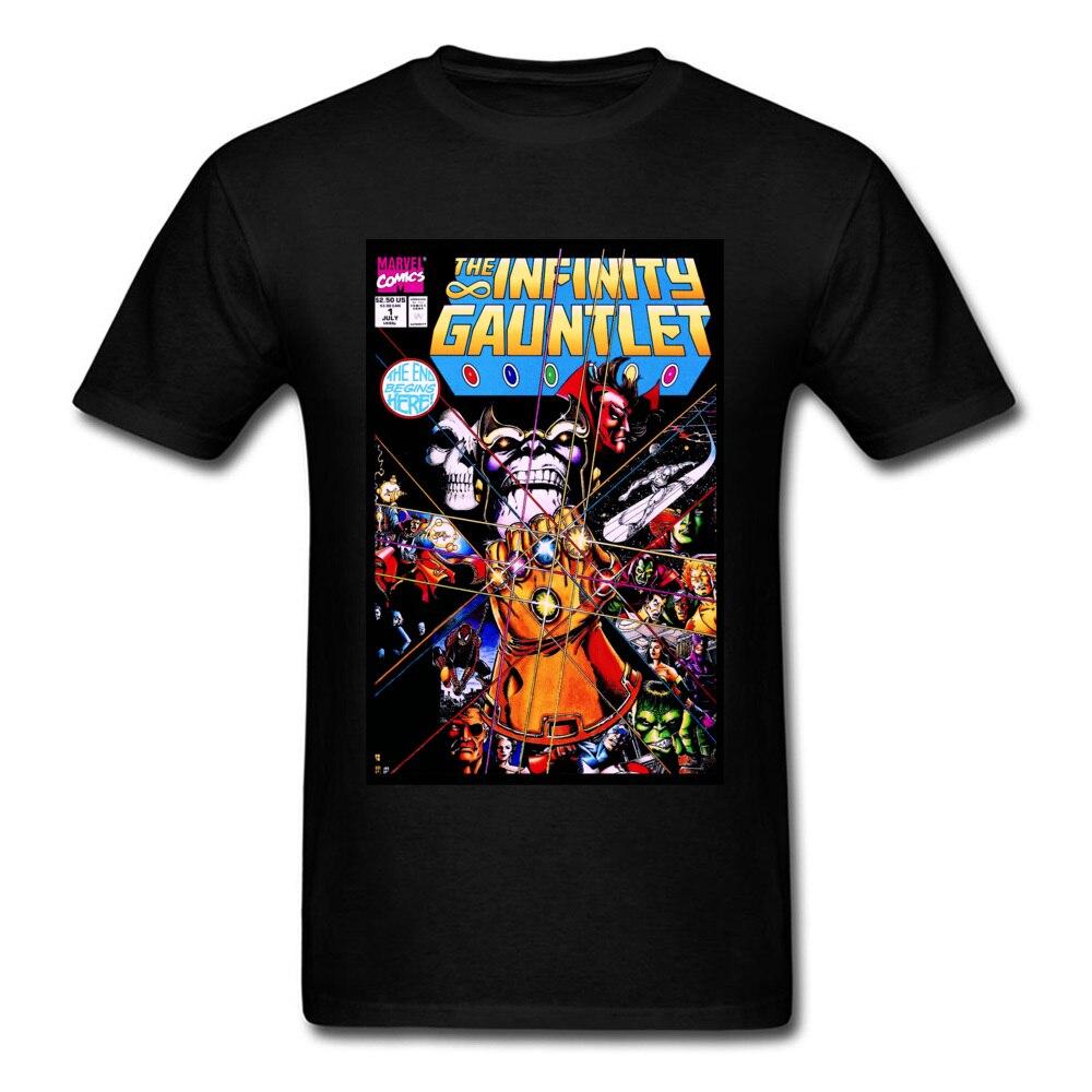 Avengers Infinity War Maglietta Degli Uomini della Maglietta Captain America Ironman Spiderman Superman Thanos Guanto di Sfida T-Shirt In Cotone Abbigliamento