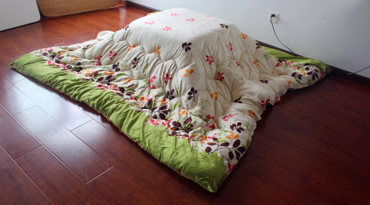Fu16 Washable Kotatsu Futon Blanket Square 205x205cm Patchwork Style Cotton Soft Quilt Japanese Comforter