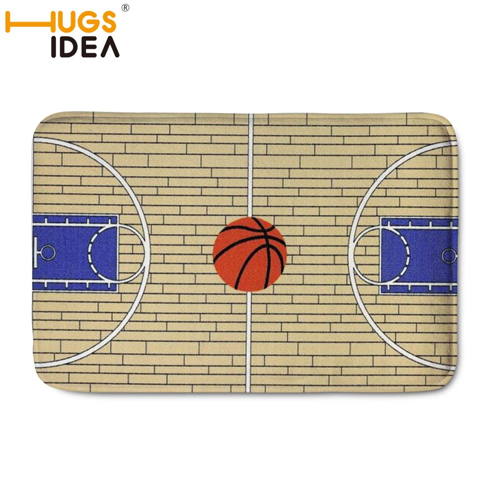 HUGSIDEA Custom NBA Basketball Carpet Front Door Mat Doormat Bathroom Mat  Soft Water Absorption Basketball Court Rugs Floor Mats