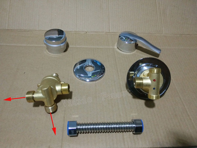 2 ways Screw+Tube shower faucet separate, 2/3/4/5 ways bathroom shower mixing faucet set , bath shower room faucet mixer