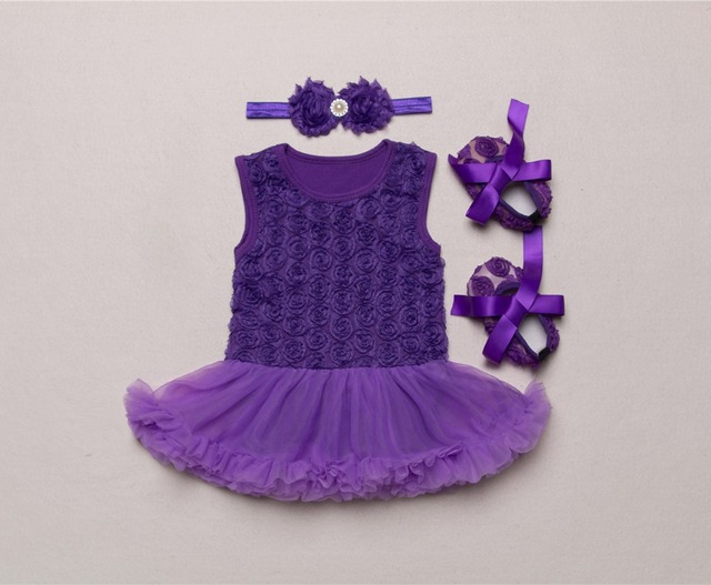 7f6296e9f157 Pink Black Purple 3PCs Set Solid Color Lace Rose Flowers Sleeveless ...