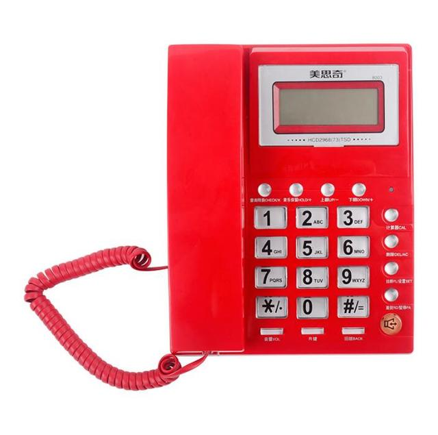 Fashion Wired Call Id Phone Corded Telephone Landline Desk Without Battery For Hotel Motel Home