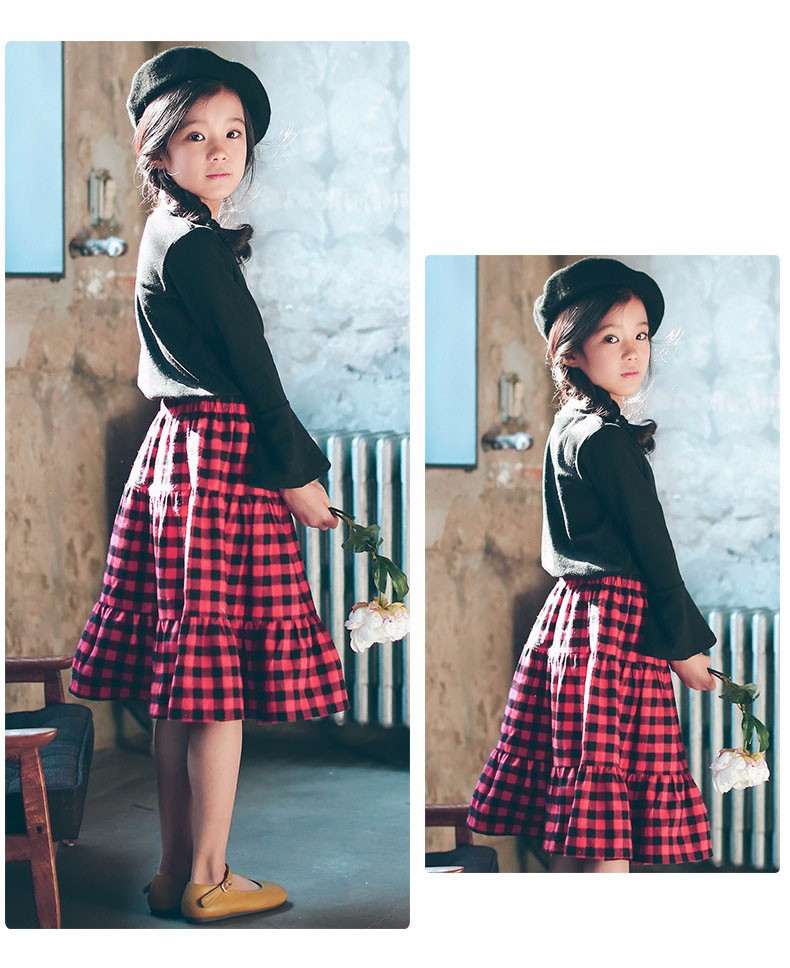 England style long skirts for baby teenage girls red plaid pleated skirt girl 2017 new spring autumn winter children clothing 5 6 7 8 9 10 11 12 13 14 15 16 years old little big teenage girls pleated skirts for kids (18)