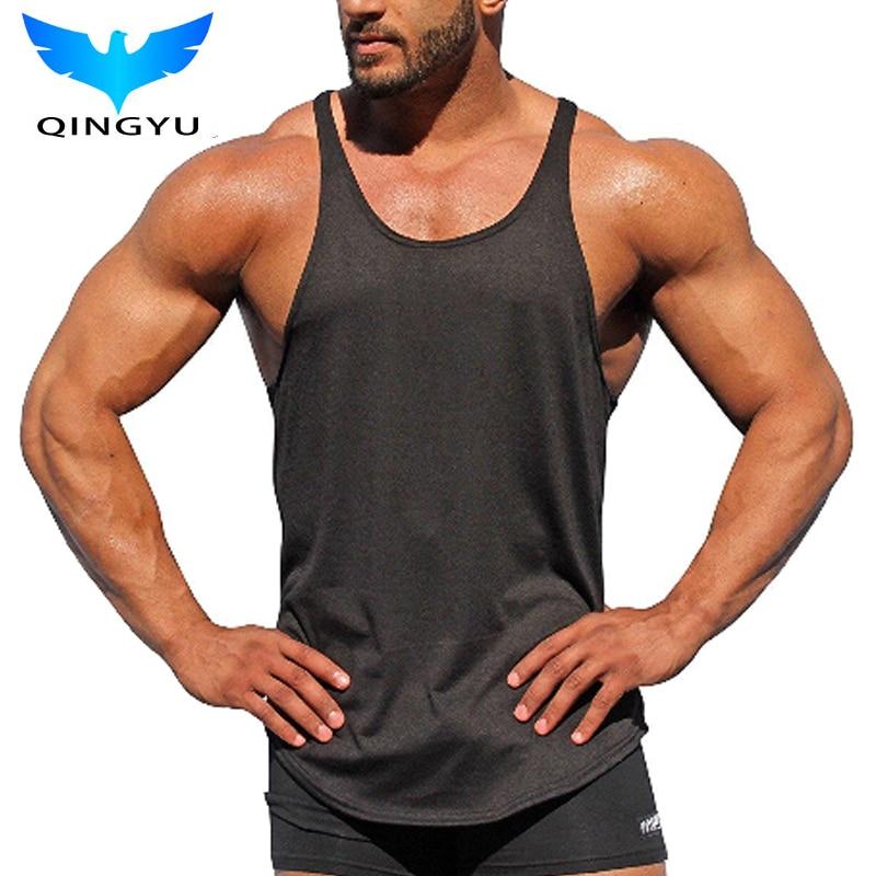 Summer New Tank Top Men 2018 Marca Hombre color sólido Chaleco sin - Ropa de hombre