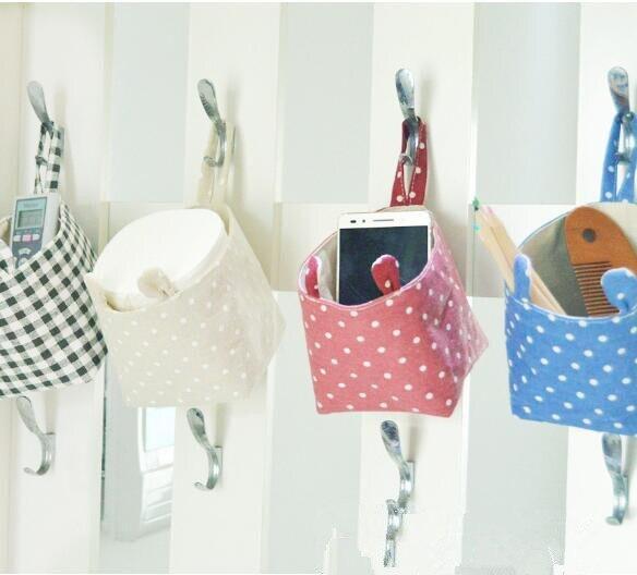 Wall Hanging Sundries basket cosmetics desktop storage bag and bathroom barrel bag bucket home organizer makeup bags box