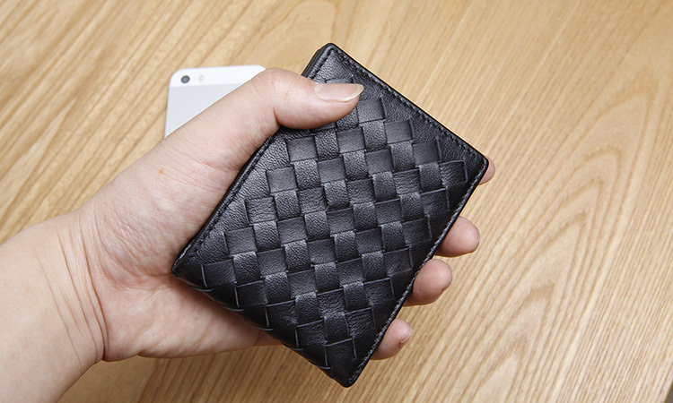 LAN mens leather wallet fashion licence wallet brand hot sale woven wallet