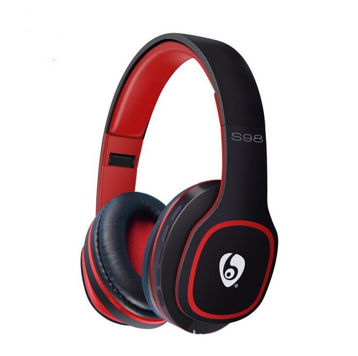 ФОТО S98 Bluetooth Headphone Foldable Over-ear Wireless Headsets 3.5mm Wired Earphone Support TF Card Music Play FM Radio Hands-free