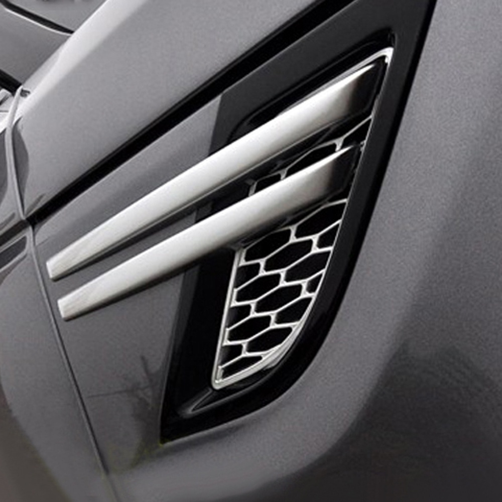 Plastique ABS chromé Pour Land Rover Discovery Sport 2 pièces Voiture Sortie D'air Latérale Garniture de Couvercle
