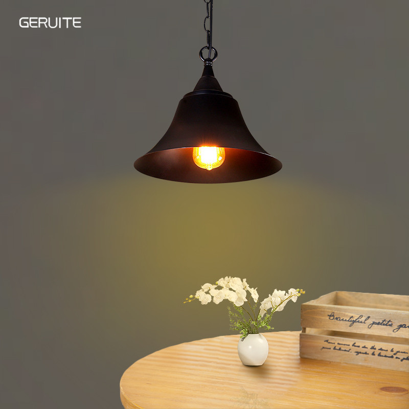GERUITE Vintage Industrial Pendant Lamp E27 Edison Bulb Loft Aisle Bar Cafe Christmas Decorative Chandelier Home Light Fixtures 6 heads e27 sockets nordic industrial edison chandelier vintage pendant lamp loft antique adjustable diy home lighting w o bulb