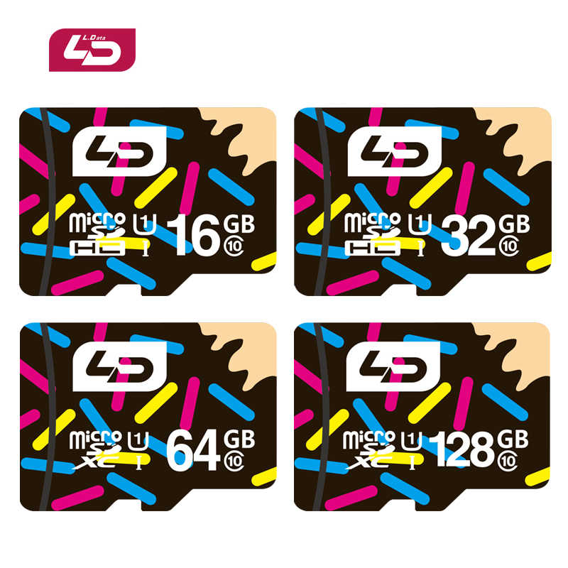 LD Micro SD карта 32 Гб класс 10 16 Гб/64 Гб/128 Гб класс 10 UHS-1 8 Гб класс 6 флэш-карта памяти для камера для планшета
