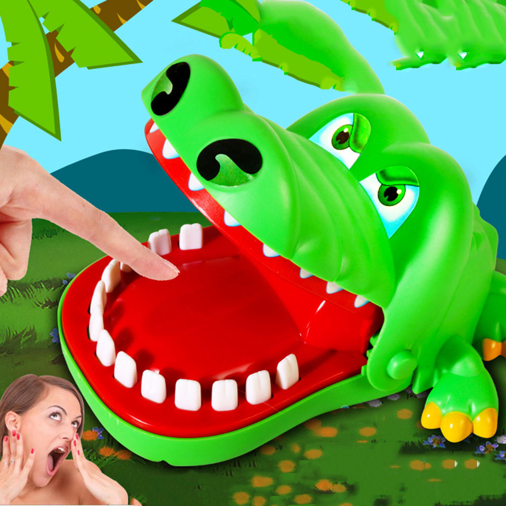 Funny Board game toys Crocodile Mouth Dentist Bite Finger Toy Large Crocodile Pulling Teeth Bar Games Toys Kids For Children цена