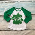 baby girls clothes raglan tops St Patrick raglan girls raglans Autumn top girls shamrock raglans kids icing raglans tshirt