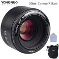 Yongnuo 50mm yn50mm lente f/1.8 af/mf gran apertura de enfoque automático para cámara canon nikon dslr