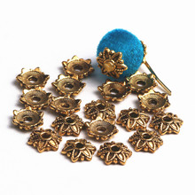 7mm Tibetan Ancient Gold Plated Flower Metal Bead Caps For DIY Earrings Bracelets Necklaces Jewelry Accessories 300pcs