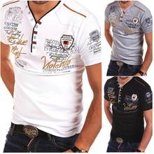 ZOGAA Men T Shirt Casual Slim Fit Short Sleeve Shirts Print Tops Tees Clothes 2019 Camiseta Hombre T-shirt