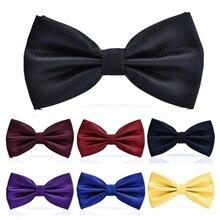 98e7c7230186b 15 ألوان ربطة القوس فيونكة الصلبة الأزياء بووتيس الرجال منقوشة noeud  بابيلون أوم الذكور الزواج فراشة. 15 اللون
