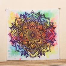 1 Ps Mantas Indio Mandala Tapiz Tapiz Bohemio Colcha Manta Dormitorio Decoración Para El Hogar mantas mandalas