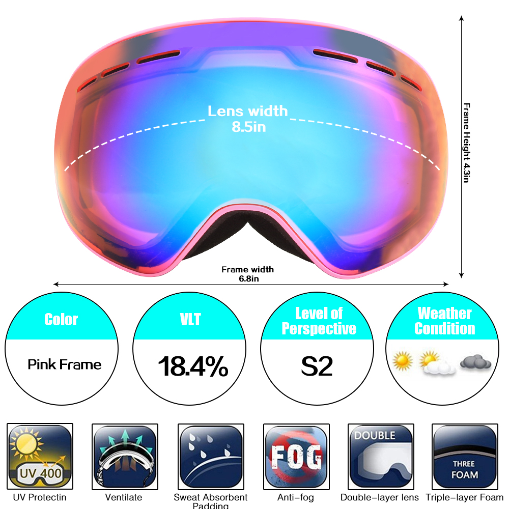 Jiepolly Magnet Interchangeable Skiing ski Goggles font b Snowboard b font Glasses Cycling font b Sunglasses