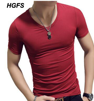 bf87316d ECTTC 2018 Brand Clothing 10 colors V neck Men's T Shirt Men Fashion  Tshirts Fitness Casual For Male T-shirt S-5XL Free Shirt