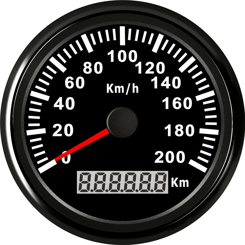 85 millimetri 200 km/h Universale Digitale GPS Tachimetro Calibro per il camion Marine ATV In 316L Lunetta Auto di Velocità GPS calibri 12 V/24 V