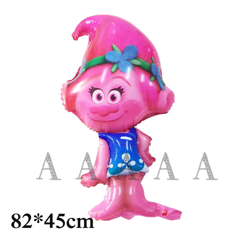 1pcs cartoon trolls foil balloon girl new style princess Poppy balloon trolls for girl gift and happy birthday balloon