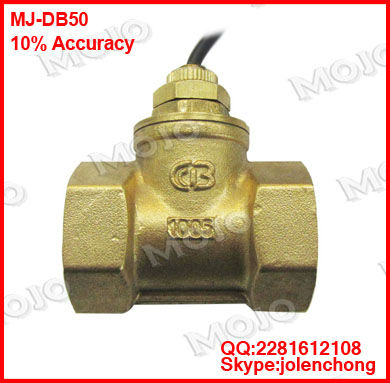 Free shipping MJ-DB50 ( 5 pieces) G2 Paddle type 10% Copper Brass flow switch 96*68*130