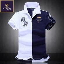 83055f57f2aba Летний Новый Для мужчин бутик вышивка дышащий 100% хлопок рубашки поло  лацкане Для мужчин Air
