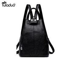 2019 New Women Leather Backpack Teenage Girl Teens School Bag Unisex Casual Bagpack Fashion Backbag
