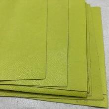 Genuine green grain cowhide leather fabric