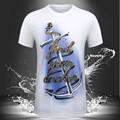 Fashion 2016 Novelty Design 3d t-shirt Boat Anchor Cotton Casual t shirt homme Men brand  t shirt fitness palace Plus Size bape