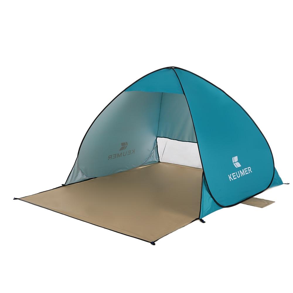 Keumer Открытый автоматическая палатка пляжные палатки мгновенных Pop-Up Палатка Anti UV приют Рыбалка Пеший Туризм Пикник (120 + 60) * 150*100 см