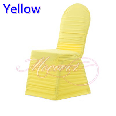Ruched Chair Covers Dining Room Dunelm Yellow Colour Universal Pleated Cover Lycra Wedding Decoration Wholesale