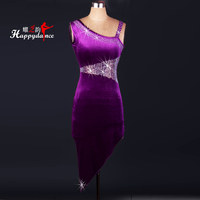 The High End Custom Clothing Female Adult Latin Dance Competition Diamond Rumba Costume Dress Suit Latin