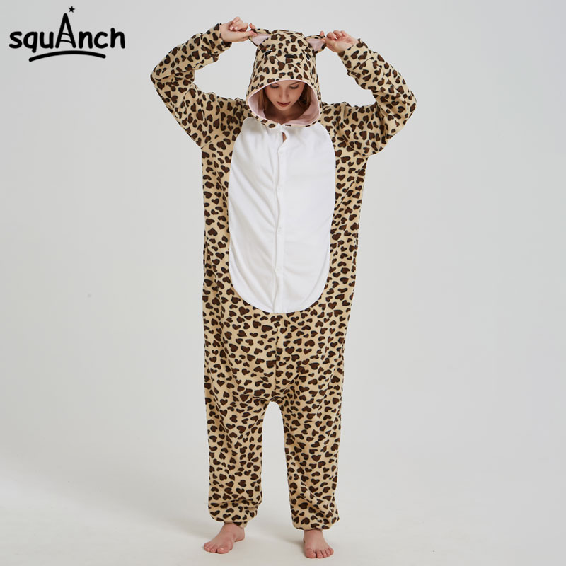 110d467538 Leopard Panther Kigurumi Onesie Animal Leopard Print Pajama Adult Women  Funny Cute Sleep Suit Polar Fleece Loose Outfit Fancy
